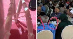 """بعد معركة """"الصحون الطائرة"""" .. ربط الكراسي و توفير كؤوس بلاستيكية في مؤتمر حزب الاستقلال (صور)"""