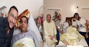 """بالصور : حجيب و الداودي في زيارة خاصة لـ """" العمري """" بعد وعكة صحية حادة ألمت به"""