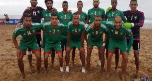 المنتخب المغربي للكرة الشاطئية يتعادل وديا مع نظيره المصري