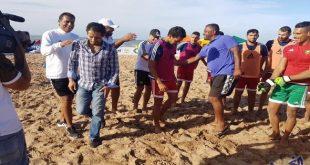 دوليون سابقون يزورون المنتخب المغربي للكرة الشاطئية